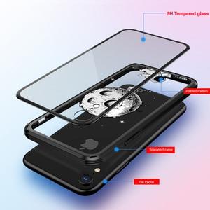 Image 5 - Чехол из закаленного стекла для iPhone X XR xs max, 6d взрывозащищенный прозрачный стеклянный чехол с рисунком для девушек, стеклянный чехол для iphone xr xs max
