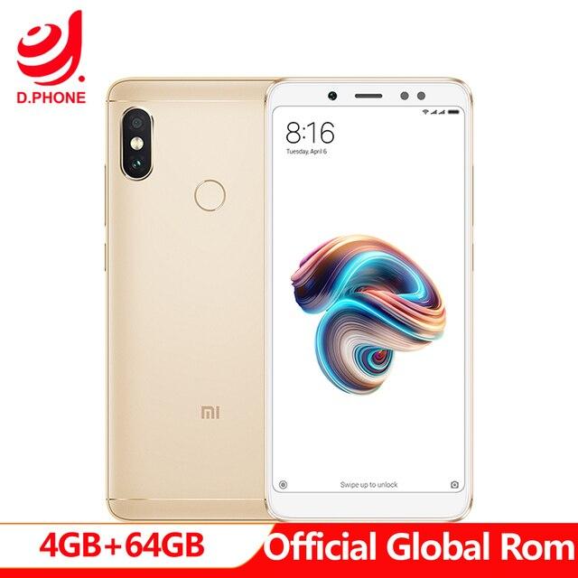 "Google Play Store Global Rom Xiaomi Redmi Note 5 AI 5.99"" FHD Snapdragon 636 4GB RAM 64GB ROM 4G LTE Mobile Phone 13.0MP 4000mAh"