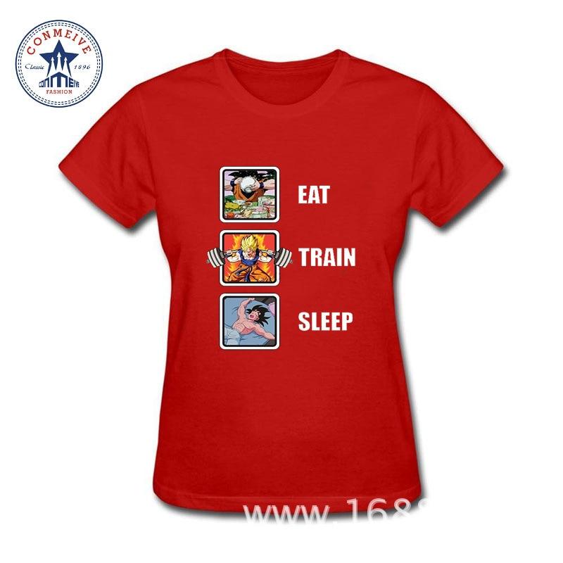 2017 Newest Fashion Funny Eat Train Sleep Goku Repeat Men DJ Cotton funny t shirt women
