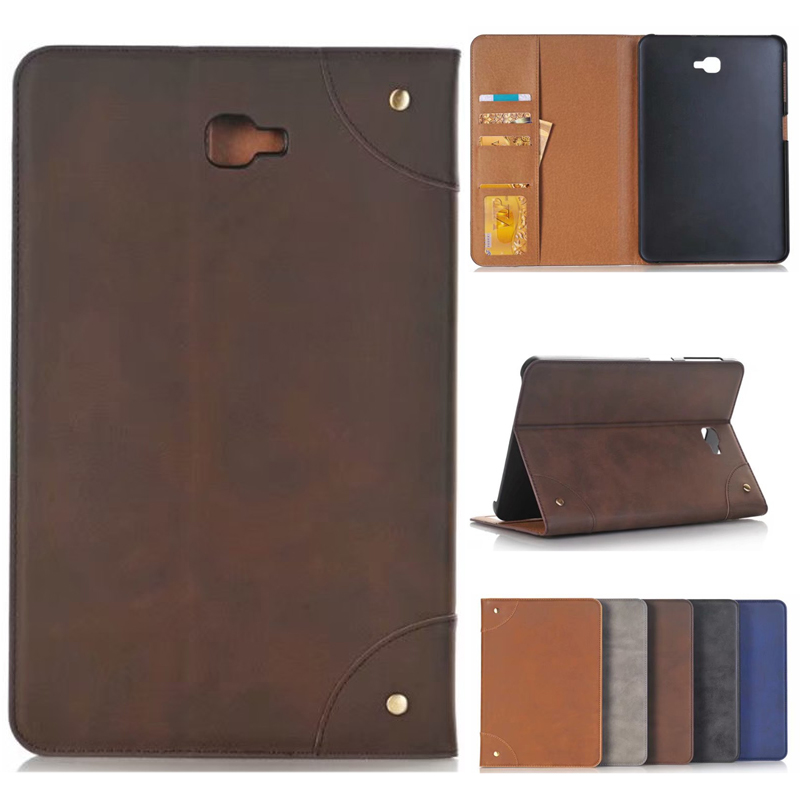 Tab A A6 10.1 SM T580 T585 T587 Luxury Pattern Leather Case Cover - For Samsung Galaxy Tab A 10.1 Tablet multi stand case