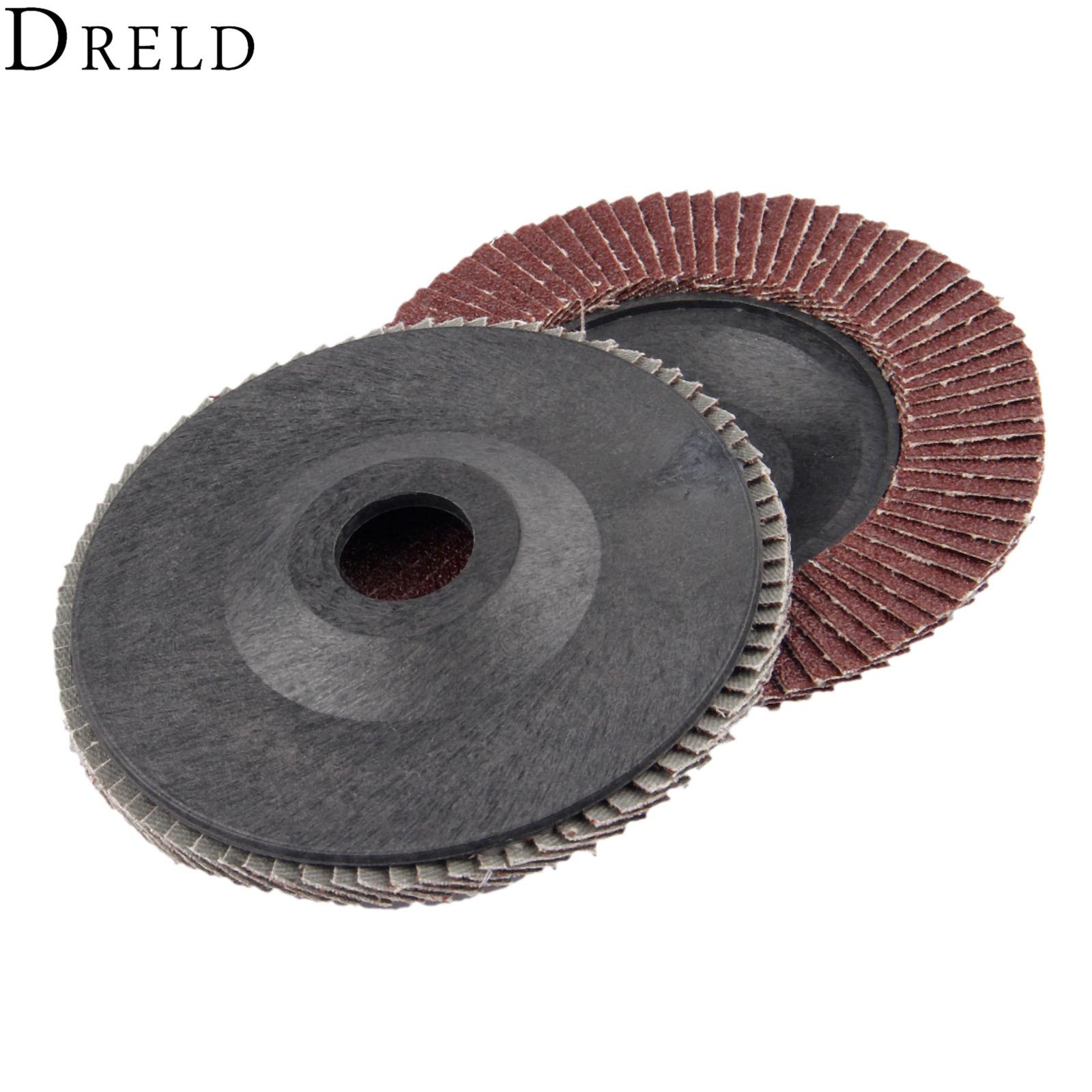 DRELD 1Pc 5 Inch 125mm Sanding Flap Discs Polishing Grinding Wheel Abrasive Tools Grit 60 For Angle Grinder Dremel Rotary Tool