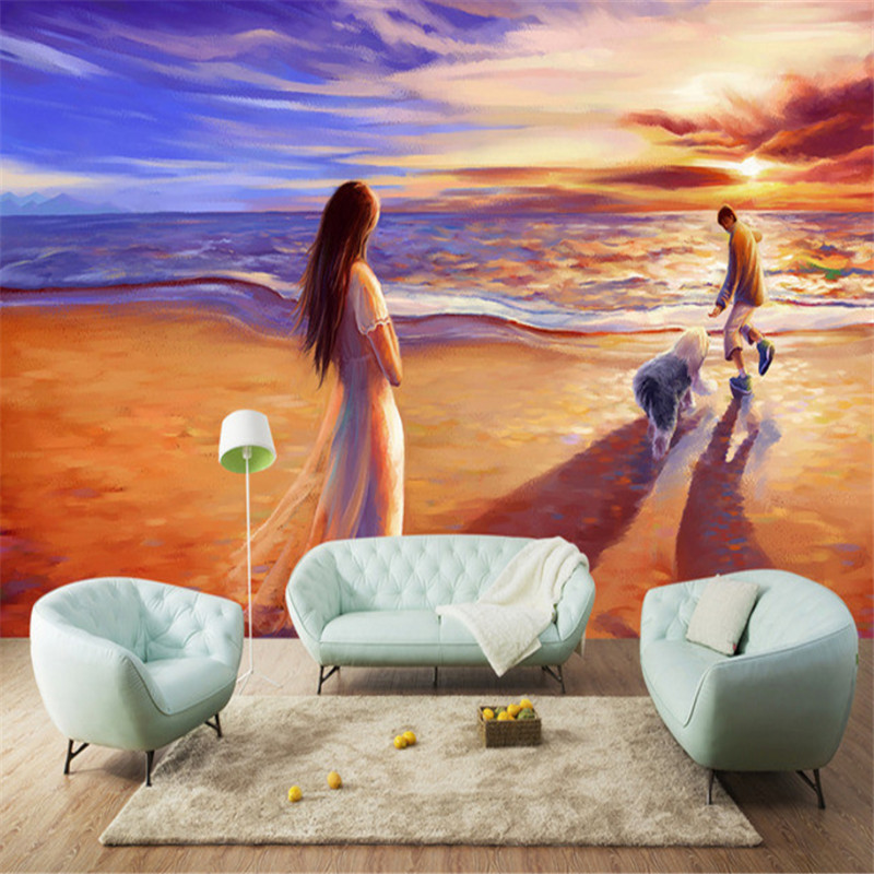custom modern 3d non-woven wallpaper wall murals 3d wallpaper beautiful lover oil painting mural background wall home decor beautiful net color decorative pattern design of modern household wall paint murals background wallpaper with high quality papel