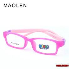 f2089acc7d MAOLEN Children Glasses Frame Size 41 Mira Flexible No Screw One-piece Optical  Baby Eyewear with Strap Cord Kids Eyeglasses Boys