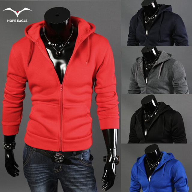 New Hot 2017 Men's Spring Autumn Period Zipper Hoodies&Sweatshirts Men Hood Coat Fashion Recreational Male Western Style Coat