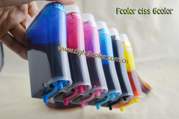 T0851 Empty Continous Ink Supply System for Epson 1390 / R330 CISS with Reset Chip + 500ML Pigment Ink / Color ciss suit for epson sure color px5vii empty ciss for ic79 series cartridges [9 colors] with arc chips