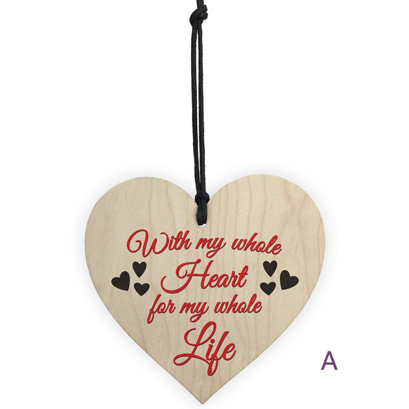 Vintage Wooden Hanging Gift Plaque Pendant Family Friendship Love Sign Wine Champagne Tags Decor Wedding Decoration supplies