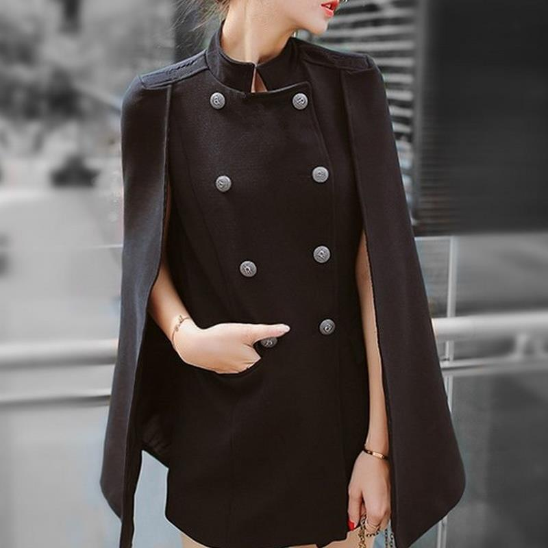 New Double breasted   trench   England Long Sleeve Windbreaker Female Suit Claw Fake Two-piece Set
