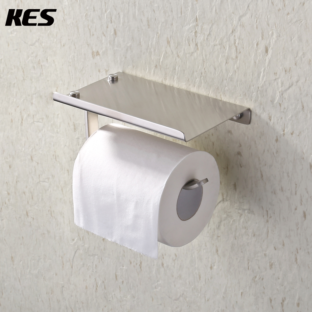 Wall Mount Paper Towel Dispensers Us 23 Kes Sus 304 Stainless Steel Toilet Paper Holder Storage Bathroom Kitchen Paper Towel Dispenser Wall Mount Brushed Finish In Paper Holders