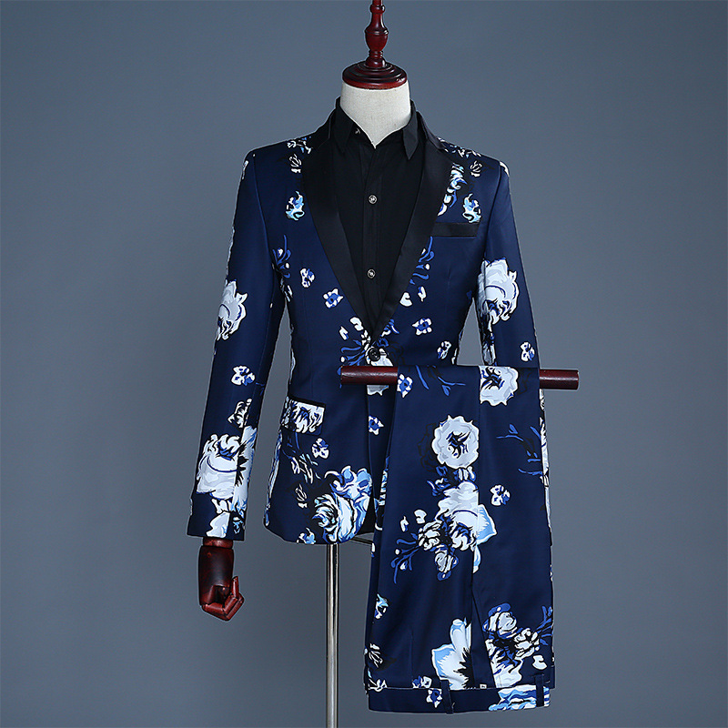 2018 men the groom dress suit suits show male host emcee stage performance studio theme  ...