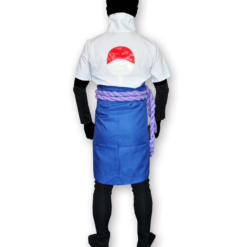Japanska Anime Naruto Shippuden Kläder Uchiha Sasuke Cosplay - Maskeradkläder och utklädnad - Foto 4