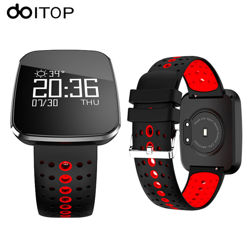 DOITOP V6 Smart Watch OLED HD Screen Fitness Tracker Smartwatch Heart Rate Blood Pressure Monitor Sports Smart Watch Bracelet