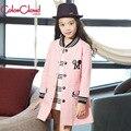 Big Girl Niños Chaquetas Para Niñas Niños de la Capa Muchachas de La Manera de Mickey Mouse Ropa de Color Rosa Ocasional prendas de Vestir Exteriores de la Chaqueta Rompevientos GH087