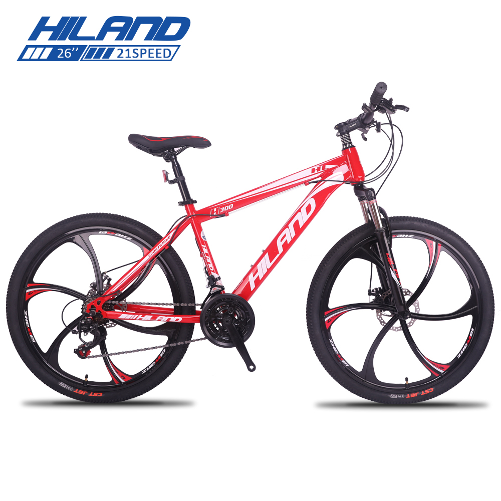 21 Speed Adult Mountain Bike 26 Inch Steel Frame With Suspension Fork