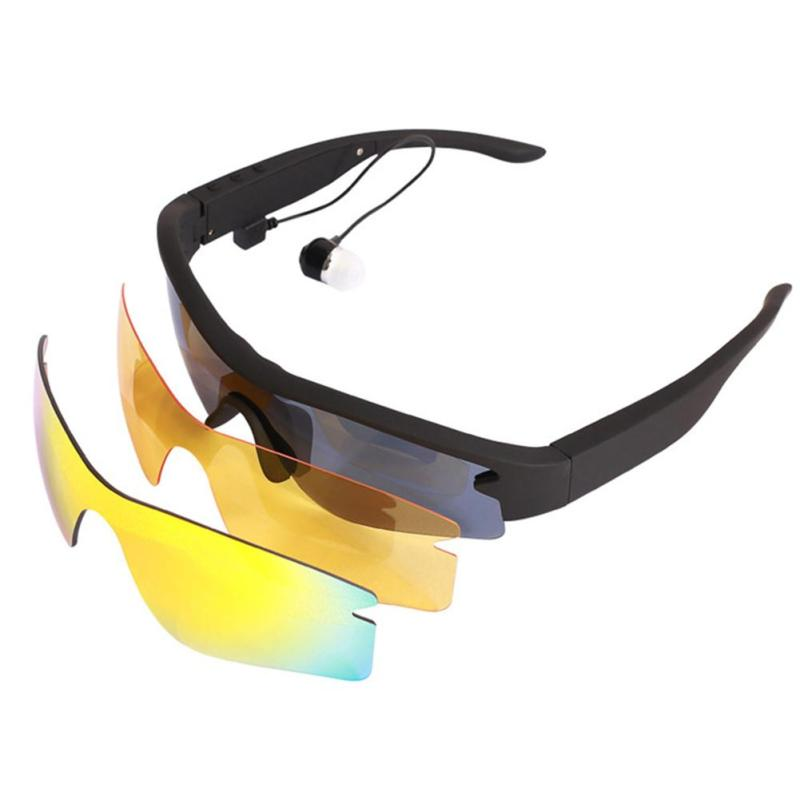 Sunglasses Bluetooth Headset Outdoor Sport Glasses Earphone Music with Mic Stereo Wireless Headphone for iPhone Samsung xiaomi music stereo headset bluetooth 4 0 edr earphone sweat proof hv 930 wireless headphone neck strap outdoor sport earphone w mic