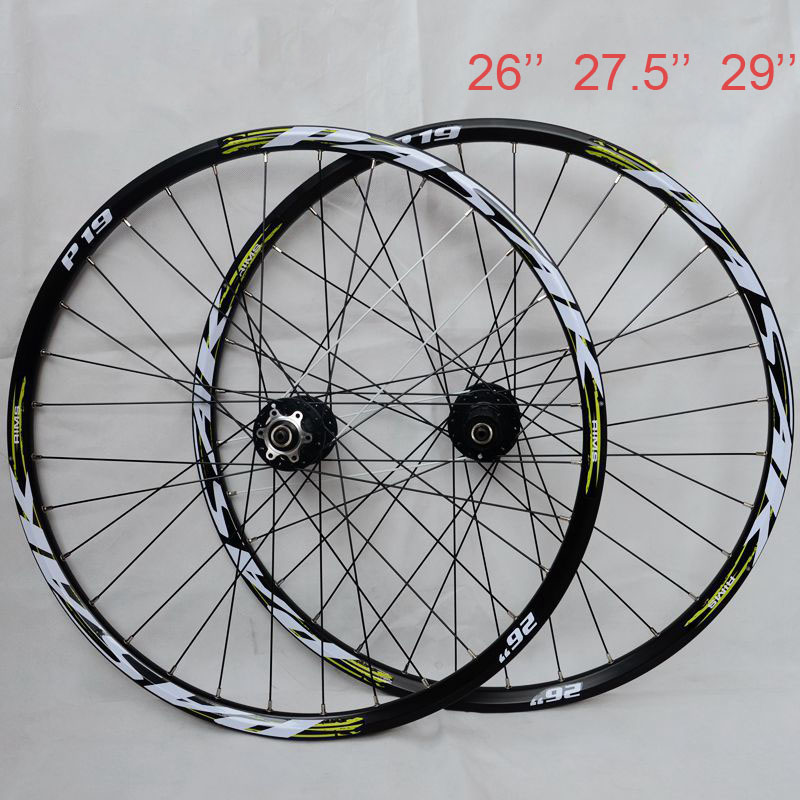 Hot Wheel ! PASAK P19 26 27.5 29 MTB Mountain Bicycle Bike CNC Front 2 Rear 4 Sealed Bearings 32 Holes Disc Wheelset все цены