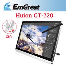 Discount! Huion GT-220 21.5″ IPS Panel LCD Digital Tablet Monitor Drawing Graphics Interactive Pen Display tableta grafica + Charging Pen
