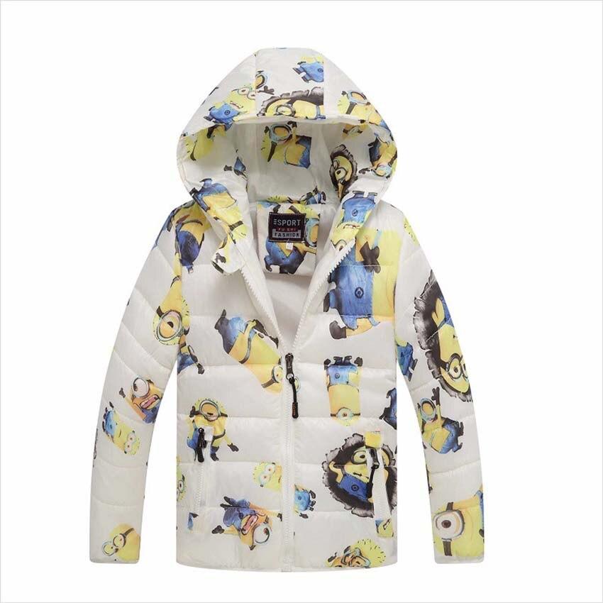 Minion Boy Płaszcze Z Kapturem Wysokiej Jakości Postacie Winter Boy - Ubrania dziecięce - Zdjęcie 5
