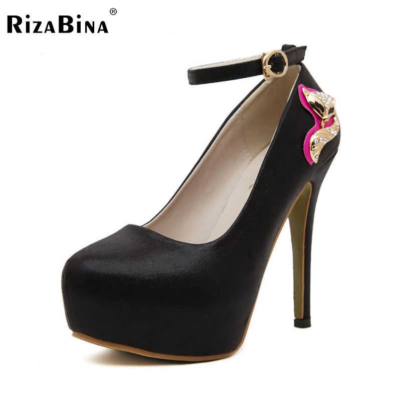 women high heel shoes patent leather stiletto pearl quality footwear platform fashion heeled pumps heels shoes size 34-39 P17140