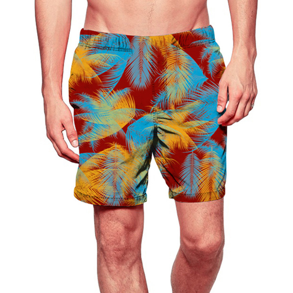 Casual Men Fashion Printed   Shorts   Swim Trunks Quick Dry Beach Surfing Running Swimming Watershort Brand Men   Board     Shorts   5