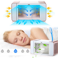 Air Cooler Air Conditioner Fan Sleep Office Portable Deluxe Mini Plastic