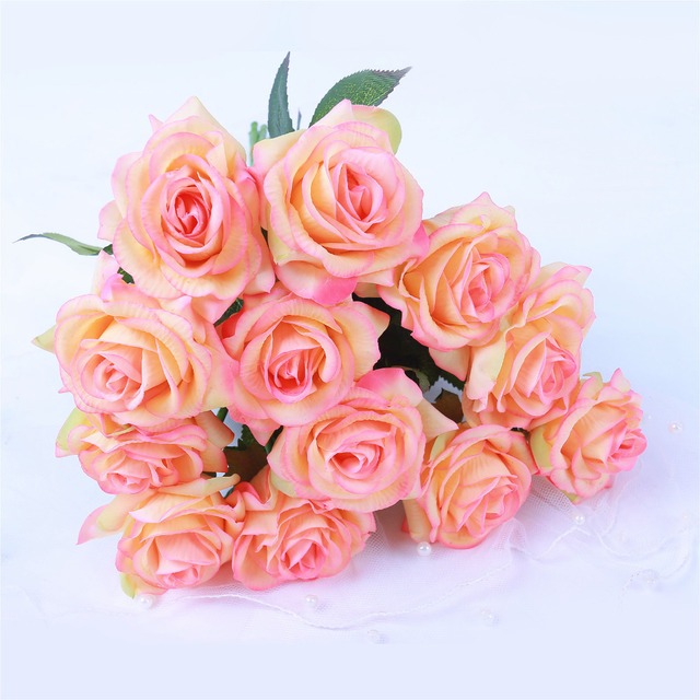 1pc Artificial Flowers Real Touch Latex Rose Flower DIY Wedding ...