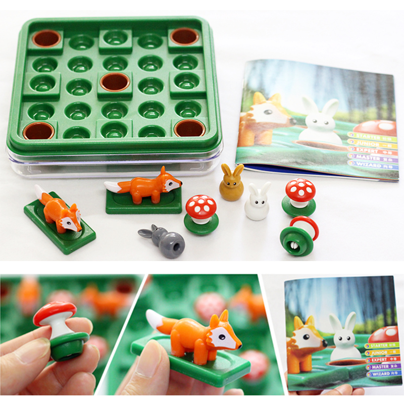 Billede af 60 Chanllges Jump In Rabbit Puzzle Children's Toy Escape Game IQ Logical eductional Intelligence Toy Single Board Game Gift