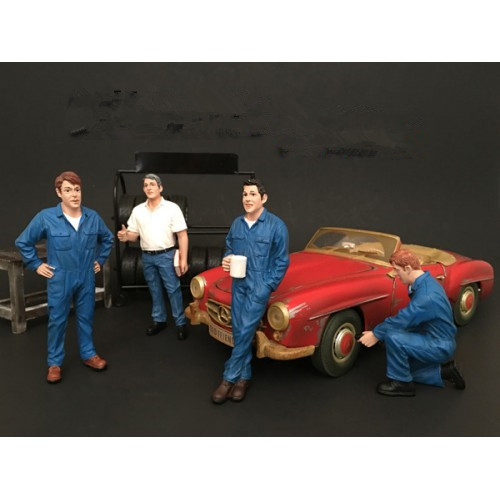 1/18 Auto Maintenance Manager General Manager Figure Model велосипед novatrack valiant черный 24 рама 12