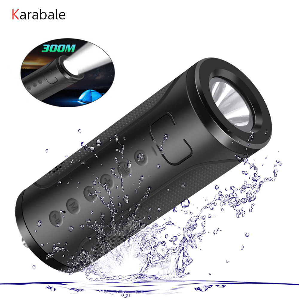 Hifi Speakers Led-Lamp Strong Power-Bank Bass Fm-Radio Outdoor-Sport Portable Wireless