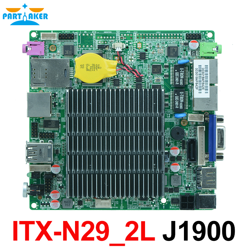 Bay trail Motherboard ITX-N29_2L Dual Lan Quad Core Mainboard J1900 with LVDs nano itx motherboard OEM цена