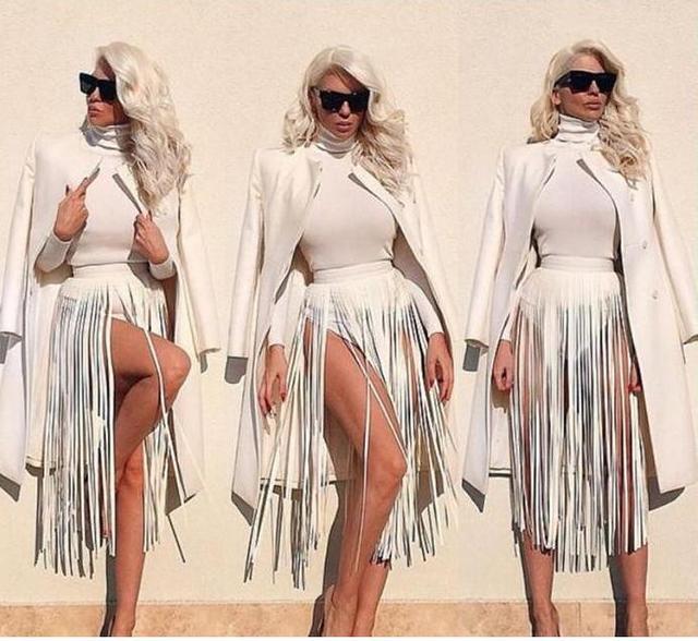 Хиппи Boho Fringe Кисточкой Черный Искусственной Кожи Дамы Пояс 2016 Все Соответствующие Высокой Талией Мода Женщины Длинные Ремни