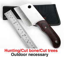 Wholesale highquality Multi Knife sharp outdoor cut knives 440c blade ebony handle tactical hunting knife Cleaver/Utility Knives