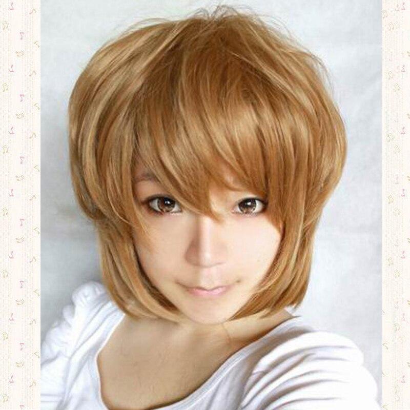 Haibara Ai Fluffy Short Shaggy Layered Anime Cosplay Wig.heat Resistance Fibre + Wig Cap