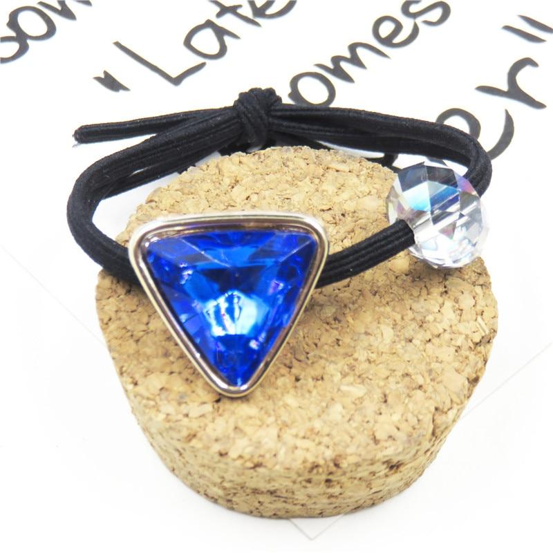 1PCS Novelty Blue Love Heart Elastic Hair Bands For Girl Handmade Hair Tie Scrunchy Kids Creative Hair Accessories For Women