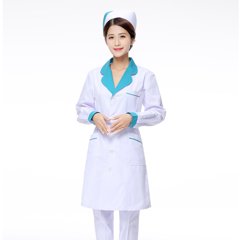 Slim Long Sleeve  Medical Clothing Women Medical Gown Lab Coat White Coat Clothes For Doctors Summer And Spring