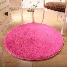 Dulce de Color Rosa Suave Shaggy Alfombras Redondas Alfombras alfombra de la Sala Dormitorio Alfombra Hogar Tapetes de Yoga Mat 80 CM/100 CM Tapete Para Sala