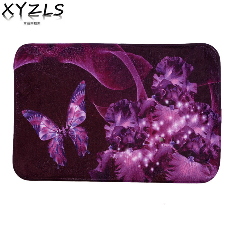 Xyzls 2017 Luxus Lila Schmetterling Bodenmatte Carpet Fr Wohnzimmer Rutschfeste Teppich Fussmatten Schlafzimmer Kche Teppiche Veranda