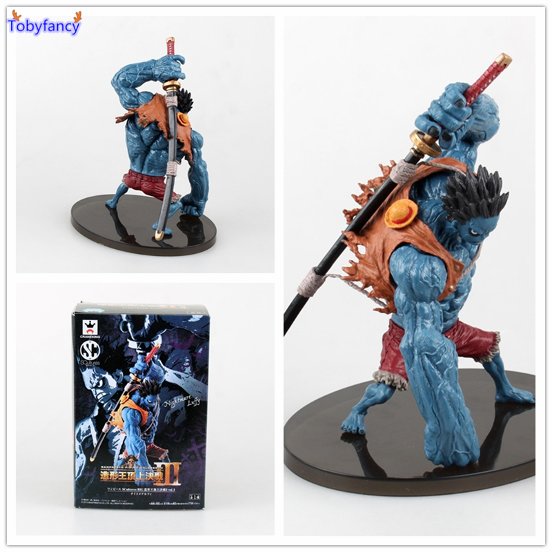 Tobyfancy One Piece Luffy Figure Anime Onepiece Nightmare Pesadilla Luffy  PVC Action Figure One Piece Collectible Toys anime one piece nightmare luffy figure pvc action figure collection model toys free shipping