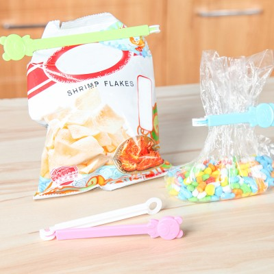BF040 Cute cartoon bear clip food preservation sealing clamp bag clip 3pcs set free shipping in Bag Clips from Home Garden