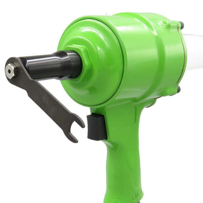 Pneumatic Pistol Type Pop Rivet Gun Power Tools 1500 Kgs 1/4 Inch Air Power Operated Riveter Air Riveter Green Dropshipping