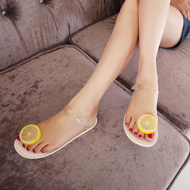 harajuku flip flops women 2016 summer korean ulzzang kawaii sandals women  personality of lemon slipper cute jelly shoes woman 9d8ea6bb4754