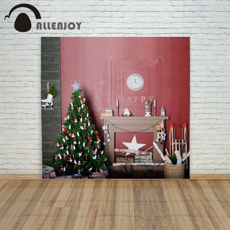 Christmas background Photography 4x6ft Fireplace tree wall gift xmas decorations photo shoots funny merry lens to telescope adapter suit for sony alpha minolta af mount fourth generation swebo for wildlife photographers