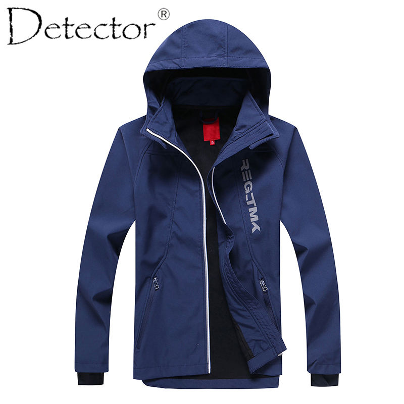 Detector Big Boys Outdoor Sport Jacket Softshell Jacket Hiking Camping Coat