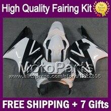 7gifts black white For HONDA CBR900RR CBR954 RR 2002 2003 37MP84 CBR 954 RR CBR 954RR Glossy white 02-03 CBR954RR 02 03 Fairing