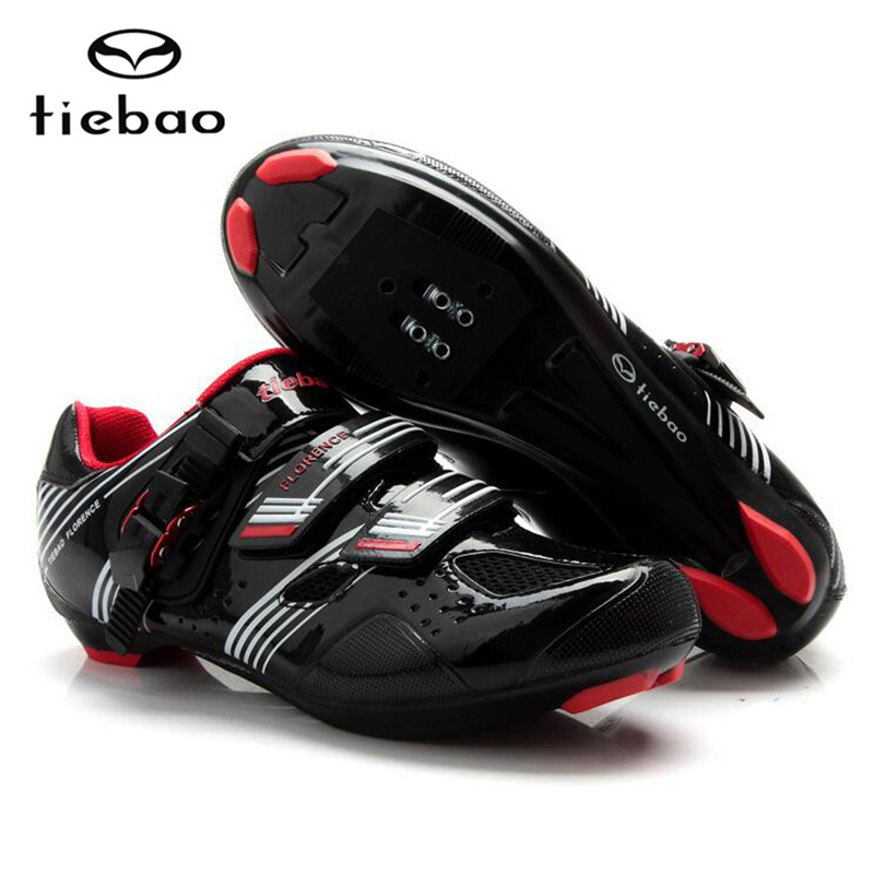 ФОТО Tiebao Ultralight Road Bicycle Shoes Men Breathable Soft Cycling Shoes Self-locking Bike Shoes Highway Shoes Sapatos de ciclismo