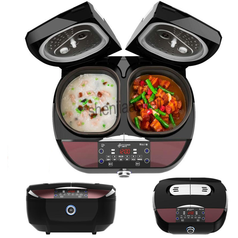 Multi-function rice cooker Smart Dual Liner kitchenware double bile intelligent 9L automatic household can be timed 220-240v 1pc