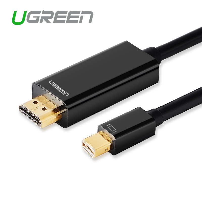 Ugreen Exibição Thunderbolt Mini DP para Cabo HDMI Macho para Macho Adaptador para Macbook Pro Ar Câmera Projetor Suporte para TV k * k 2 4 3D