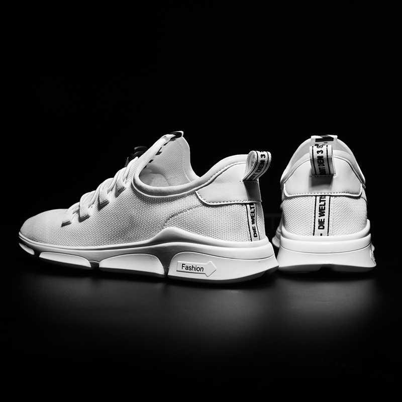 WOLF WHO Мужская обувь мужские кроссовки дышащая повседневная обувь мужские Черные слипоны мужские легкие Chaussures для мужчин X-129