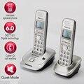 DECT6.0 домашняя беспроводная телефонная трубка беспроводной телефон с ID звонящего Handfree внутренний домофон английский испанский язык для дом...
