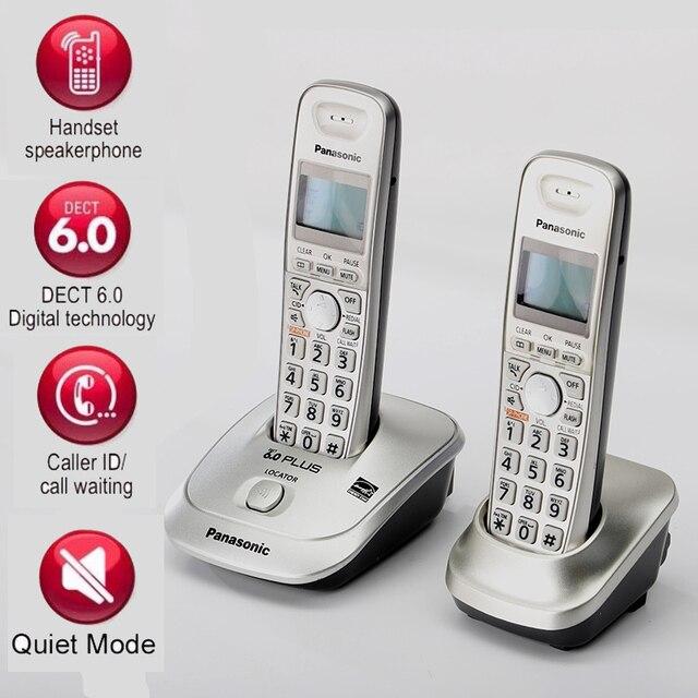 DECT6.0 ホームコードレス電話ハンドセットワイヤレス電話発信者 ID ハンズフリー内部インターホン英語スペイン語家庭用