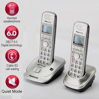 Bilgisayar ve Ofis'ten Telefonlar'de DECT6.0 ev telsiz telefon ahize kablosuz arayan kimliği telefon ile Handfree dahili interkom İngilizce İspanya dili ev için